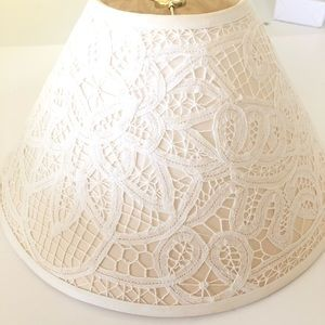 Vintage Lace Heirloom Lamp Shade Off White
